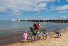 Sopot. The famous Polish resort town. Sopot, Poland - August 1, 2015: Sopot is one of the most popular tourist resorts in Poland. The receiving many tourists Stock Photos