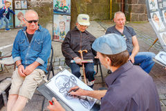 Sopot. The famous Polish resort town. Sopot, Poland - August 1, 2015 in Sopot is one of the most popular tourist resorts in Poland. Street artists and Stock Photos