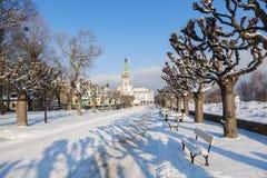 Sopot Lighthouse in winter scenery. Sopot, Pomerania, Poland Royalty Free Stock Photos