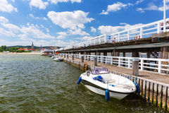 Sopot molo at Baltic Sea, Poland Stock Photos