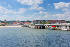 Sopot molo at Baltic Sea, Poland Royalty Free Stock Images