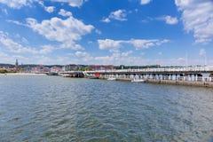 Sopot molo at Baltic Sea, Poland Stock Photo