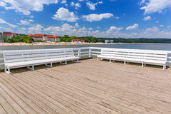 Sopot molo at Baltic Sea, Poland Stock Photo