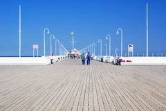 Sopot molo - the longest wooden pier in Europe Stock Image