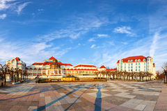 Sopot at morning. Beautiful architecture of Sopot at morning, Poland Royalty Free Stock Images