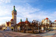 Sopot at morning. Beautiful architecture of Sopot at morning, Poland Royalty Free Stock Photos