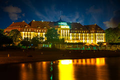Sopot at night. Beautiful architecture of Sopot at night, Poland Royalty Free Stock Photo