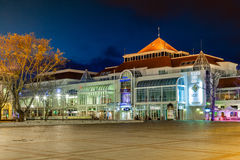 Sopot at night. Night view of Sopot with many shops, clubs, galleries, on April 14, 2016 in Sopot, Poland Royalty Free Stock Photos