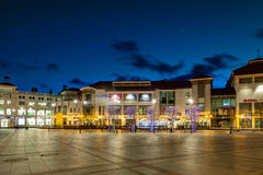 Sopot at night. Night view of Sopot with many shops, clubs, galleries, on April 14, 2016 in Sopot, Poland Royalty Free Stock Images