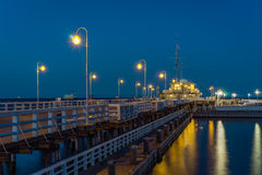 Sopot Pier in the evening Royalty Free Stock Images