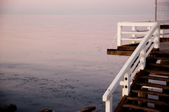 Sopot pier at sunset Royalty Free Stock Photo