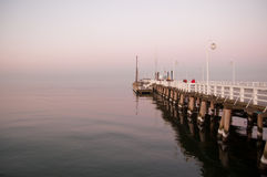 Sopot pier at sunset Stock Image