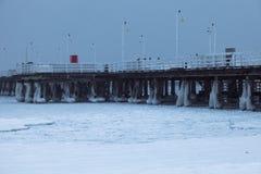 Sopot pier in winter scenery. Sopot, Pomerania, Poland Stock Photos