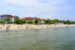 Sopot plaża Obrazy Stock