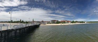 Sopot plaży panorama Obrazy Stock