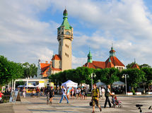 Sopot, Poland. Central square in the town of Sopot, Poland. The town is situated near Gdansk and is a renowned beachside resort
