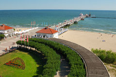 Sopot, Poland. The longest wooden pier in Sopot, Poland Royalty Free Stock Photography