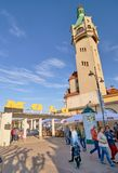 SOPOT, POLAND - APRIL 29, 2018: Lighthouse at the Sopot Molo on Royalty Free Stock Images