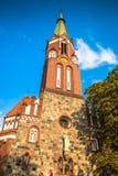 Sopot, Poland - Garrison Church tower, religious architecture. Sopot, Poland - Garrison Church tower, religious architecture royalty free stock photos