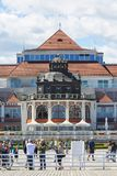 Spa House at the Baltic sea, near the Pier, Sopot, Poland. SOPOT, POLAND - JUNE 5, 2018: Spa House at the Baltic sea, near the Pier Royalty Free Stock Photography