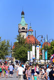 Sopot, Poland. The lighthouse tower. On the Baltic seaside stock photos