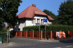 Sopot. Poland. The living house for rent Royalty Free Stock Image