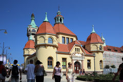 Sopot, Poland. The medecine palace Royalty Free Stock Images