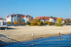 beautiful architecture of Sopot at sunny day, Poland royalty free stock photos