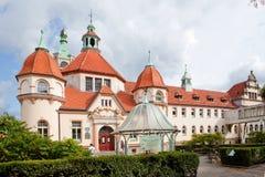 Sopot, Poland, 2009 09 24 - old historic building of balneolgic. And rheumatologic hospital in Sopot, Poland stock image