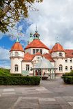 Sopot, Poland, 2009 09 24 - old historic building of balneolgic. And rheumatologic hospital in Sopot, Poland Royalty Free Stock Image