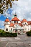 Sopot, Poland, 2009 09 24 - old historic building of balneolgic. And rheumatologic hospital in Sopot, Poland royalty free stock image