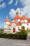 Sopot, Poland, 2009 09 24 - old historic building of balneolgic. And rheumatologic hospital in Sopot, Poland royalty free stock images