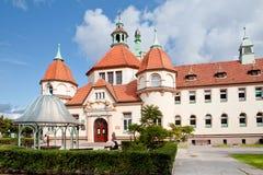 Sopot, Poland, 2009 09 24 - old historic building of balneolgic. And rheumatologic hospital in Sopot, Poland royalty free stock photography