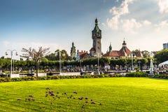 Sopot,Poland-September 7,2016:City park in Sopot, Poland. Sopot,Poland-September 7,2016:City park in Sopot, Poland stock photos