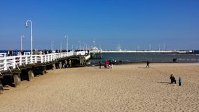Pier in Sopot, Poland Royalty Free Stock Photography