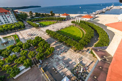 Sopot,Poland-September 7,2016: Sopot pier  molo in Poland. Royalty Free Stock Images