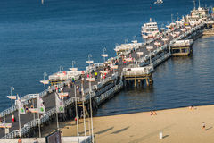 Sopot,Poland-September 7,2016: Sopot pier  molo in Poland. Sopot,Poland-September 7,2016: Sopot pier molo in Poland Stock Image
