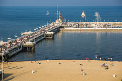 Sopot,Poland-September 7,2016: Sopot pier  molo in Poland. Stock Photo
