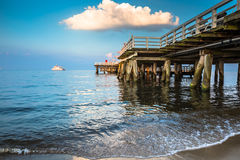 Sopot,Poland-September 7,2016: Sopot pier  molo in Poland. Stock Image