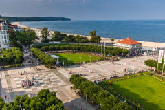 Sopot,Poland-September 7,2016: View of the Sopot City in Poland. Sopot,Poland-September 7,2016:View of the Sopot City in Poland royalty free stock images