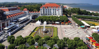 Sopot, Poland. The tourism center near the Baltic seaside Royalty Free Stock Photo