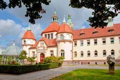 Sopot, Polen, 2009 09 24 - de oude historische bouw van balneolgic Royalty-vrije Stock Foto