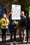 Sopot Polen, 2016 09 24 - protestera mot anti--abort lag fo Arkivfoto