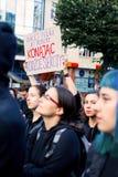 Sopot, Polen, 2016 09 24 - protestieren Sie gegen Abtreibungsgegnergesetz FO Stockfotos