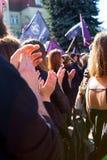 Sopot, Pologne, 2016 09 24 - protestez contre la loi FO d'anti-avortement Images stock