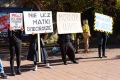 Sopot, Polonia, 2016 09 24 - proteste contra la ley FO del anti-aborto Foto de archivo