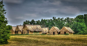 Sopot. Reconstruction of houses from the fifth century BC Royalty Free Stock Image
