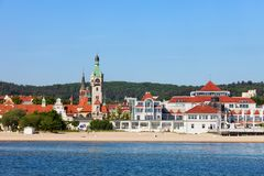 Sopot Town Sea And Beach In Poland Stock Photography
