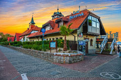 Sopot - Restaurant at sunset Stock Photography