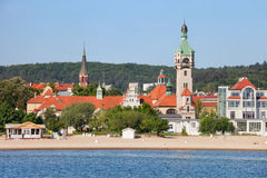 Sopot Town at Baltic Sea in Poland Royalty Free Stock Images